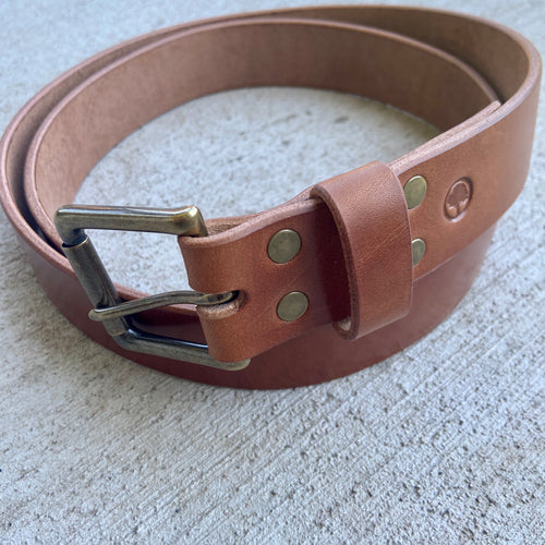 Wicket & Craig Buck Brown Harness Leather Belt