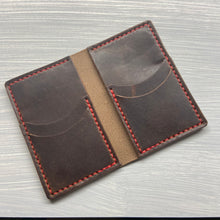 Load image into Gallery viewer, Big Bi-Fold Wallet in Horween Brown Dublin