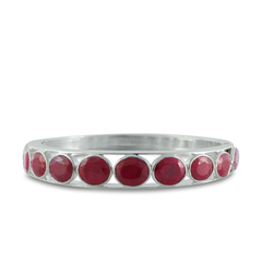 Ruby Sterling Silver Bangle