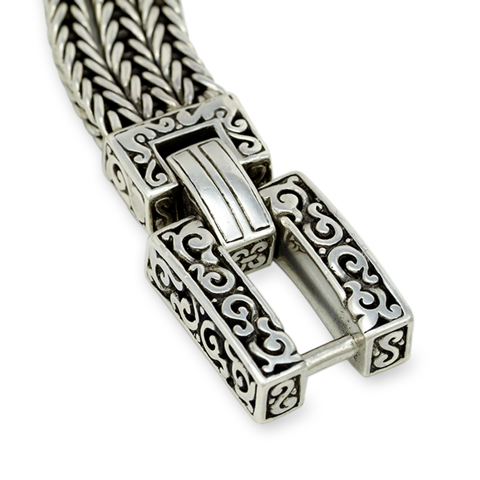 Woven Multi Chain Bracelet Set in Sterling Silver