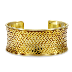 Gold Vermeil Sterling Silver Cuff Bangle