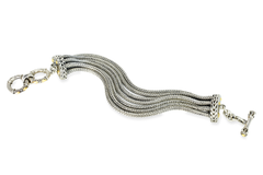 Sterling Silver Bracelet with 18K Gold Accents
