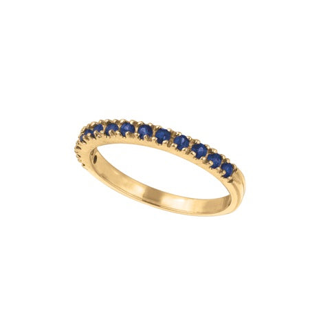 Blue Sapphire 14K Yellow Gold Ring