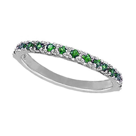 Emerald 14K White Gold Ring
