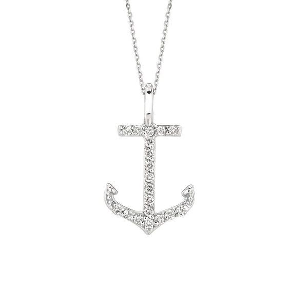 Diamond 14K White Gold Necklace