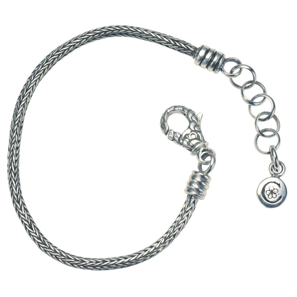 Sterling Silver Tulang Naga Woven Chain Bracelet