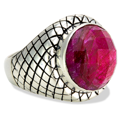 Ruby Sterling Silver Ring