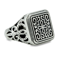 Filigree Sterling Silver Cross Ring