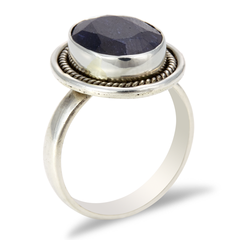 Blue Sapphire Sterling Silver Ring