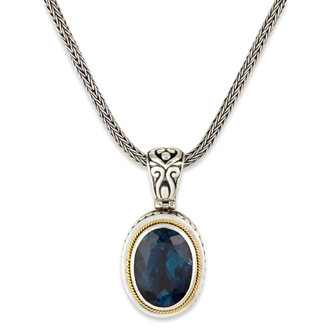 Blue Topaz Sterling Silver Necklace