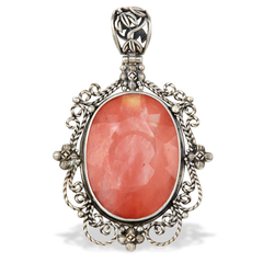 Rose Quartz Sterling Silver Pendant