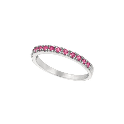 Pink Sapphire 14K White Gold Ring