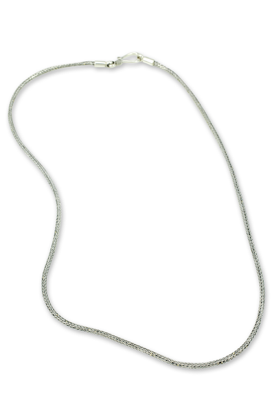 Sterling Silver Woven Chain