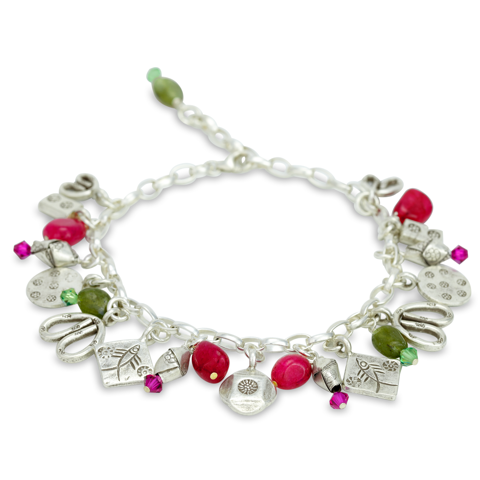 Charm Bracelet Set in Sterling Silver