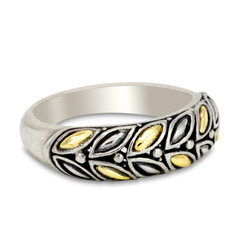 Sterling Silver Ring with 18K Gold Accents