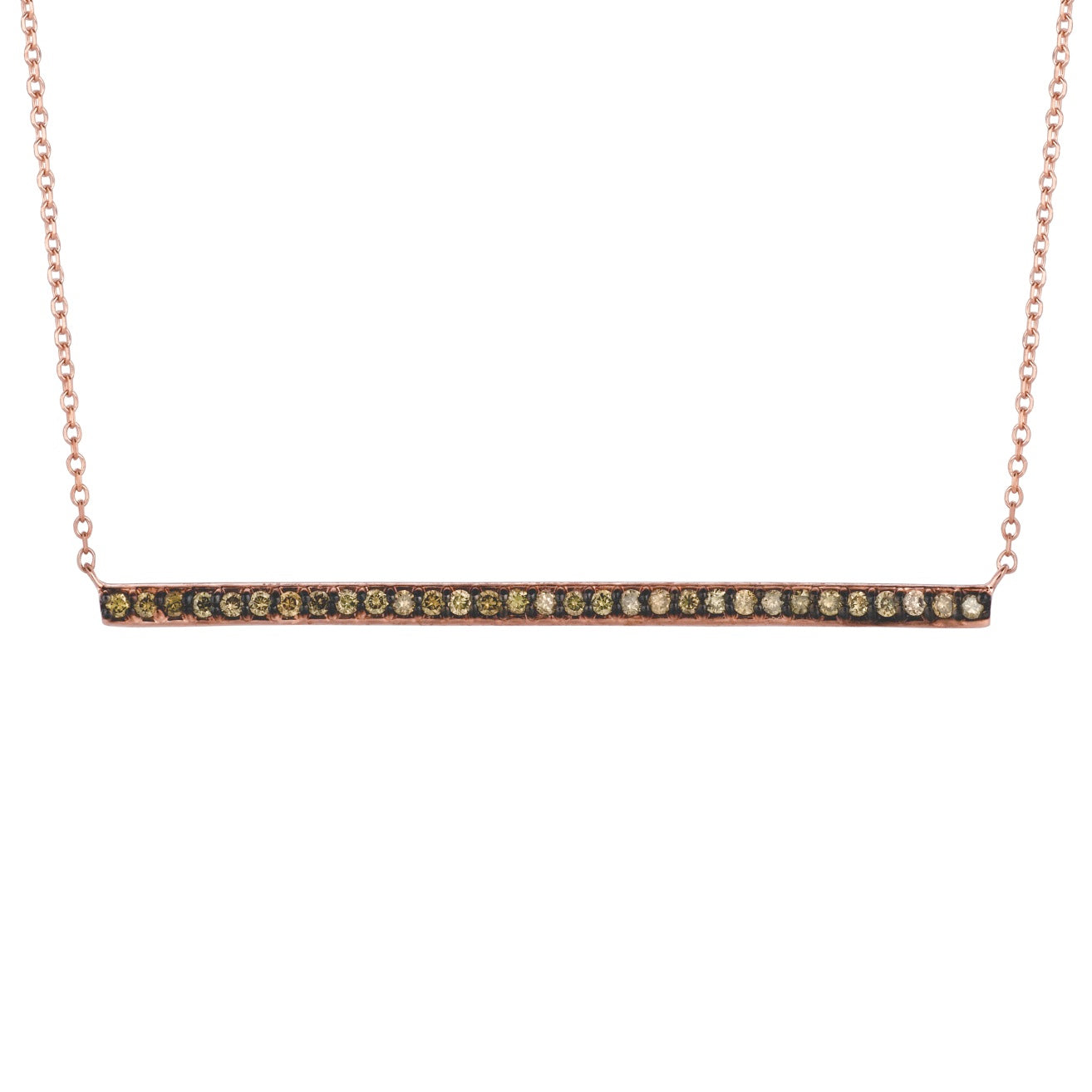 Brown Diamond 14K Rose Gold Necklace