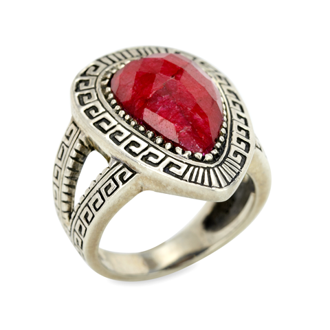 Ruby Ring Set in Sterling Silver