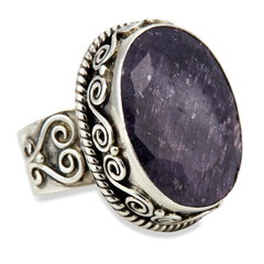 Purple Sapphire Sterling Silver Ring