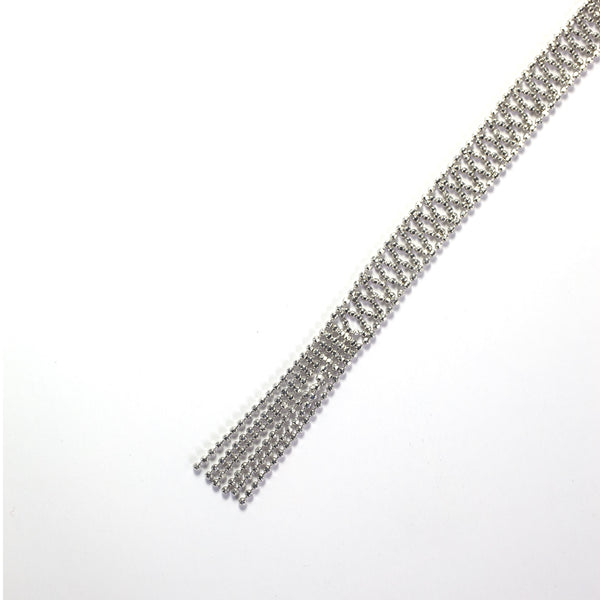 Sterling Silver Woven Shawl Necklace