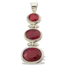 Ruby Sterling Silver Pendant