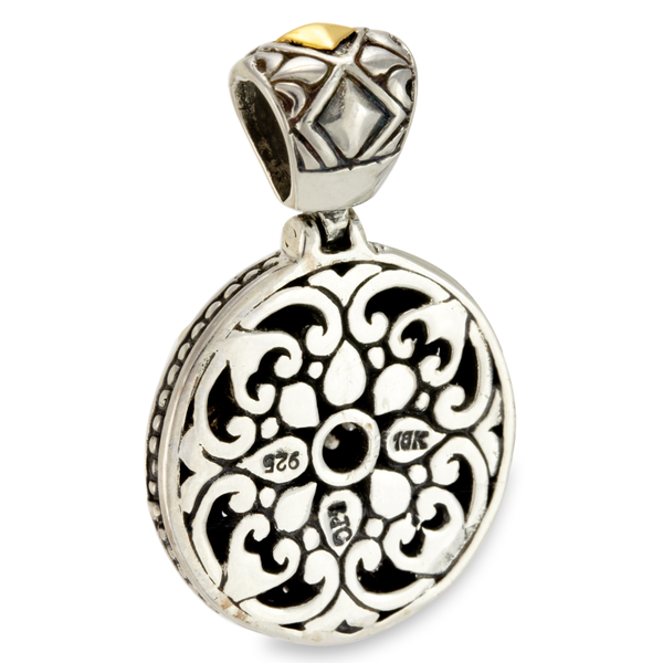 Silver with Yellow Gold Accents Pendant with Diamonds
