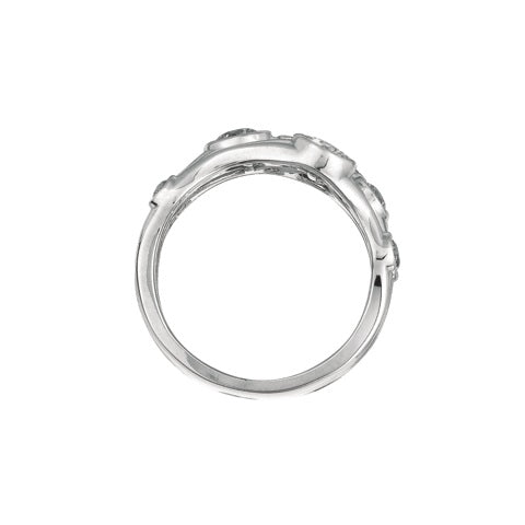 Diamond and Diamond 14K White Gold Ring