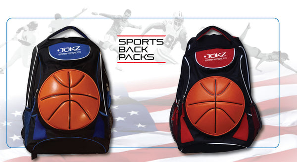 Jukz Sports Backpacks (Soccer, Basketball, Baseball, Volleyball, Tennis)