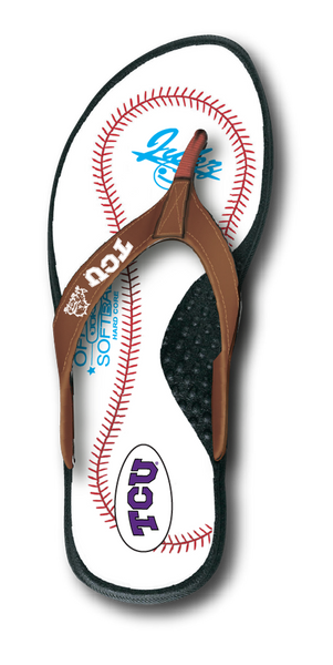 TCU Horned Frogs Baseball Flip Flop