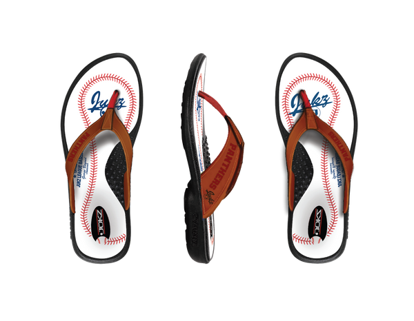 Benton Panthers Baseball Flip Flops