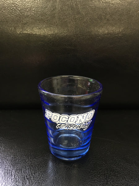 Blue Wave Shot Glass