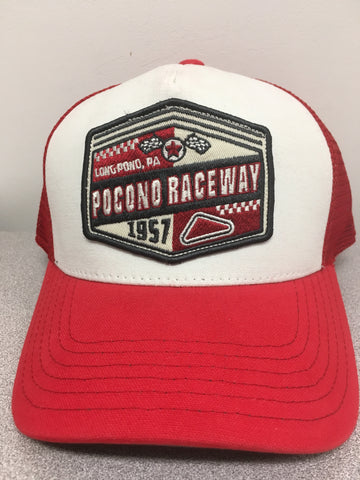 Red & White Patch Hat