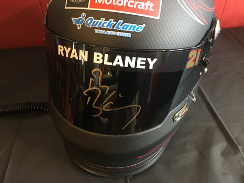 Signed Ryan Blaney Helmet