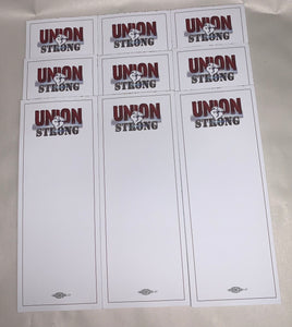 Union Strong Handy NOTEPADS - CUSTOMIZED