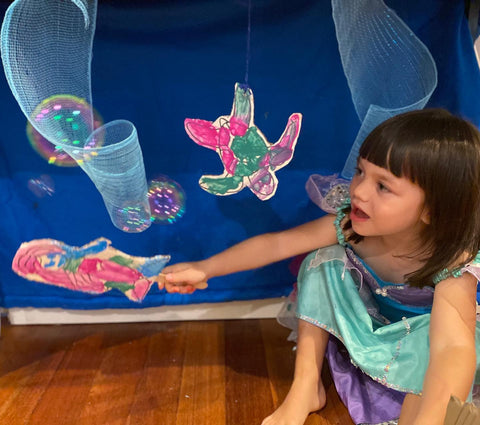 Under the sea storytelling box- using our story book boxes