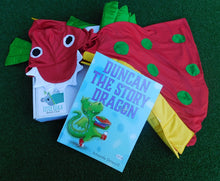 Load image into Gallery viewer, Dragon book and dress up box Little Koala Book Club