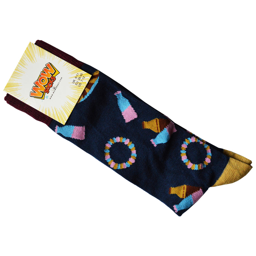 Ladies Bamboo Design Socks Sweets