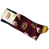 Ladies Bamboo Design Socks Doughnut Dessert