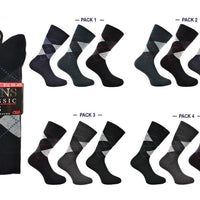 Mens Argyle Socks 3pp