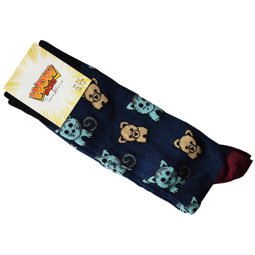 Ladies Bamboo Design Socks Pets
