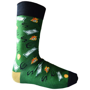 Mens Bamboo Design Socks Money