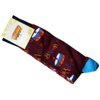 Mens Bamboo Design Socks Birthday Cake