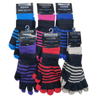 Adult 2in1 Magic Gloves Striped
