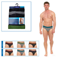 Mens Briefs with Striped Waistband (3 Pack)