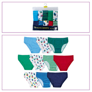 Boys Cotton Briefs in Polybag (5 Pack)