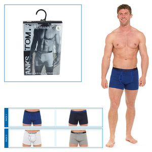 Mens Keyhole Boxers in PVC Box (2 Pack)
