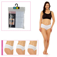 Ladies Full Briefs in Polybag White (3 Pack)