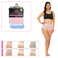 Ladies Pointelle Briefs - Pastel Colours (3 Pack)