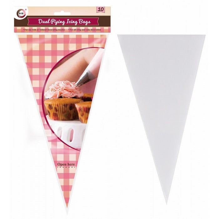 Buy wholesale 10pc dual piping icing bags Supplier UK