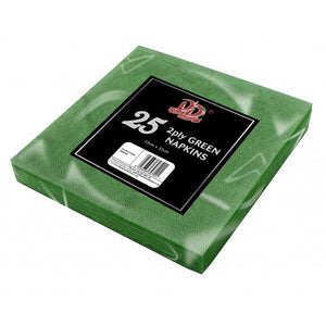 Buy wholesale 25pc 33cm x 33cm 2ply green napkins Supplier UK