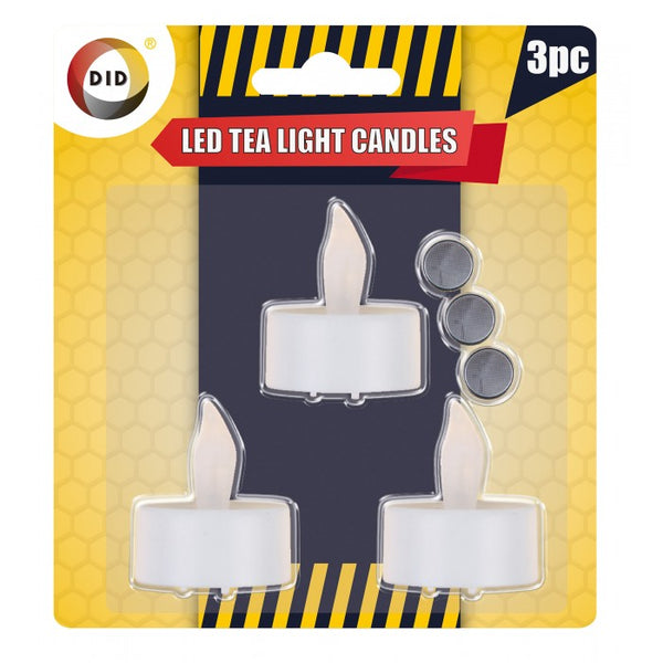 Buy wholesale 3pc led tea light candles Supplier UK